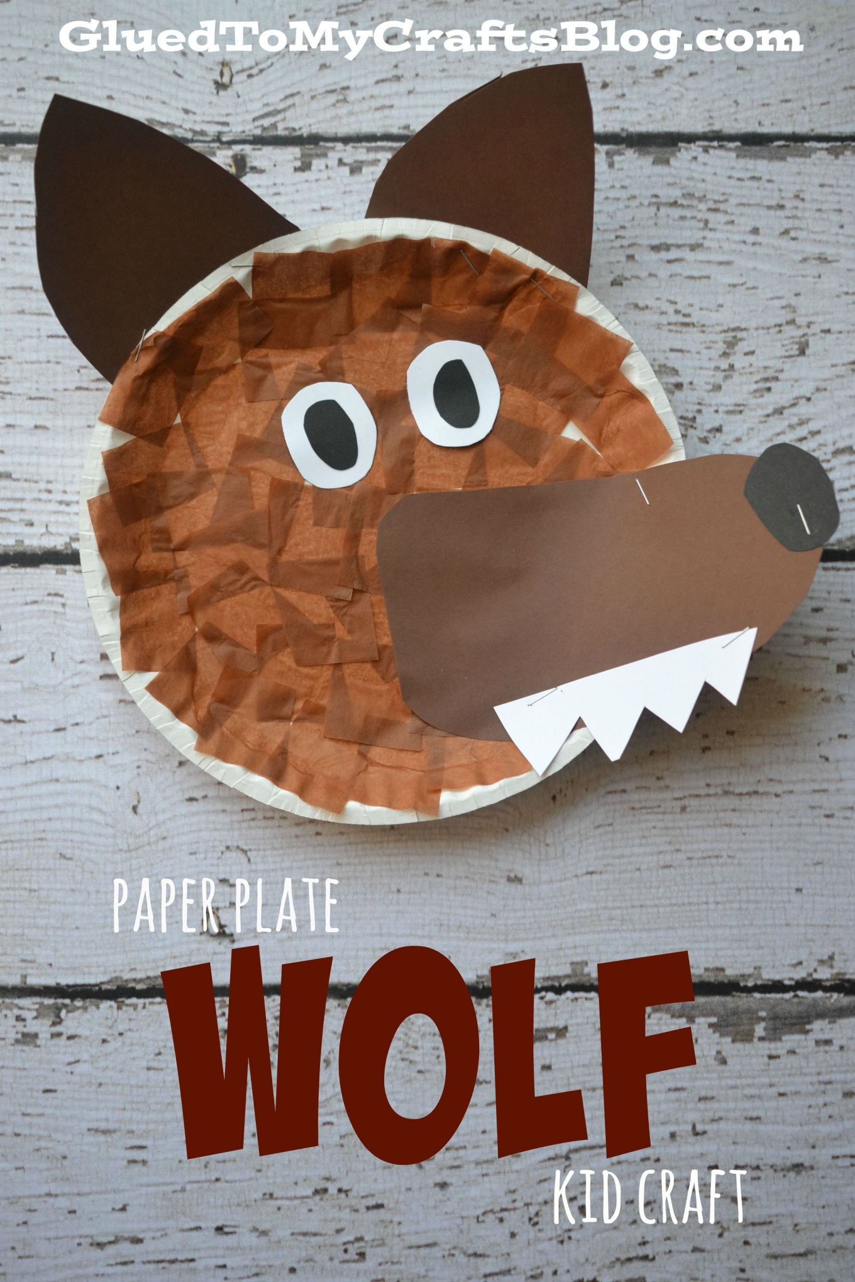 Arts And Crafts For Little Kids  Paper Plate Wolf Kid Craft