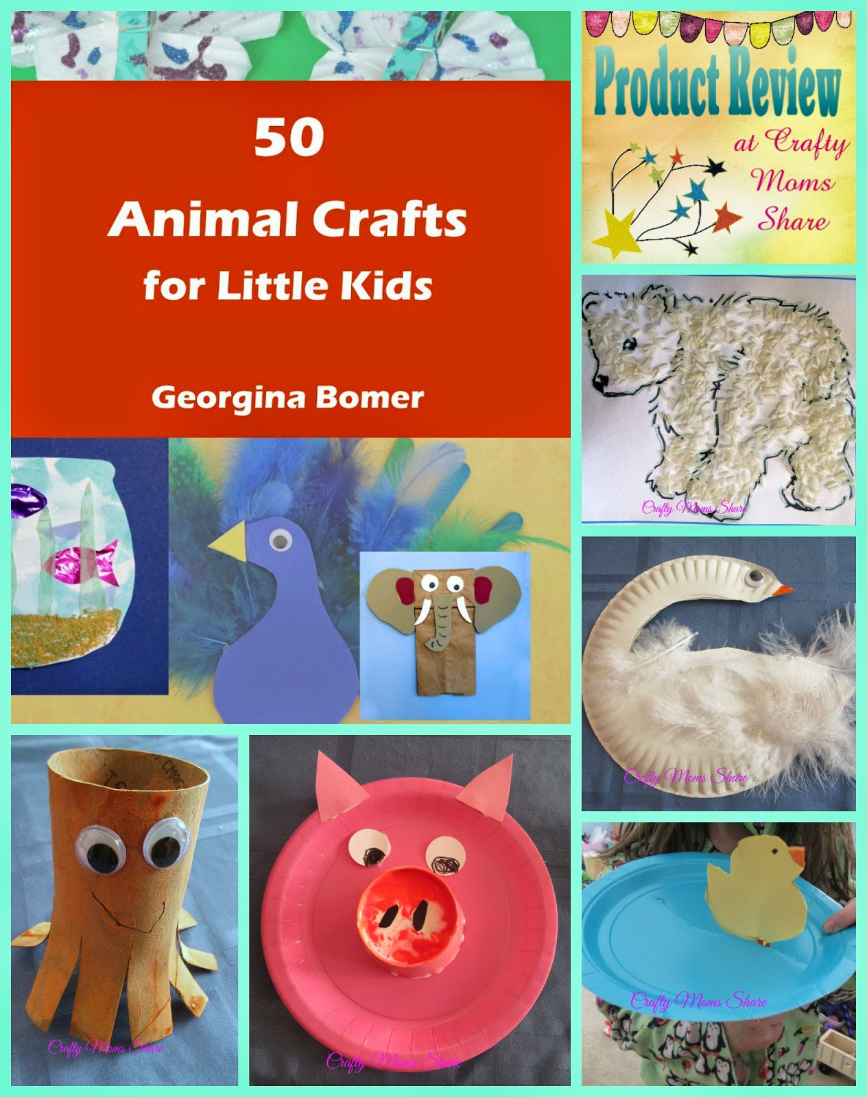 Arts And Crafts For Little Kids  Crafty Moms 50 Animal Crafts for Little Kids Book
