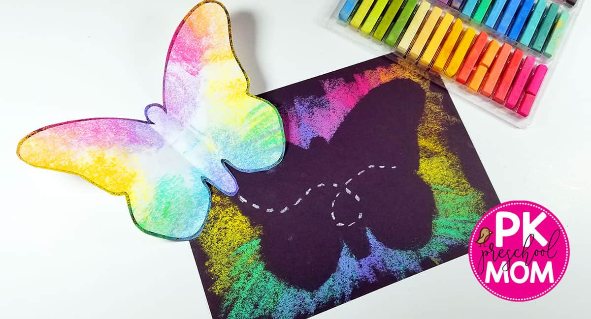 Arts And Crafts For Preschool  Butterfly Art Project for Kids Preschool Mom