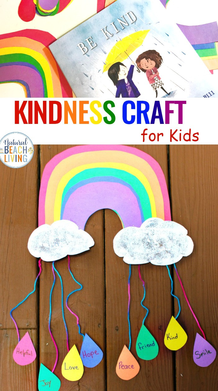 Arts And Crafts For Preschool  Kindness Crafts for Preschoolers Rainbow Crafts