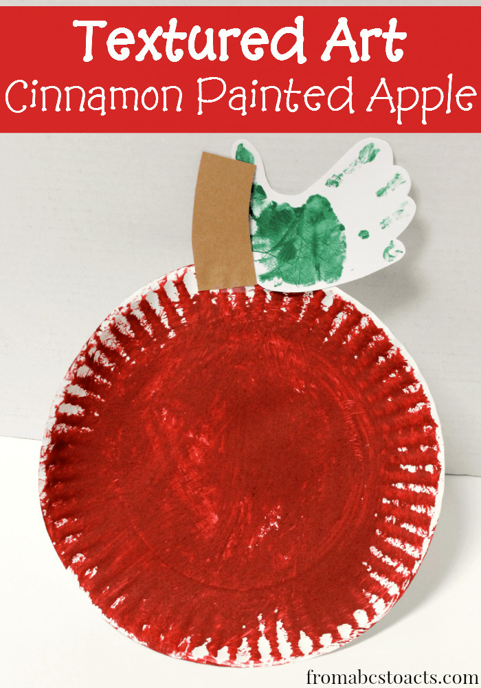 Arts And Crafts For Preschool  Textured Apple Preschool Craft From ABCs to ACTs