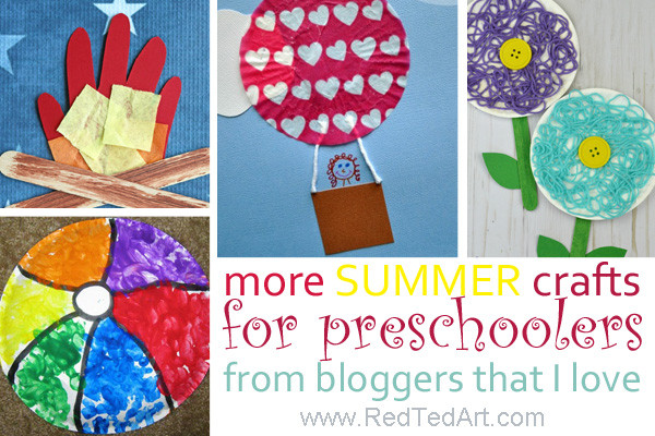 Arts And Crafts For Preschool  More Summer Crafts For Preschoolers From Bloggers That I