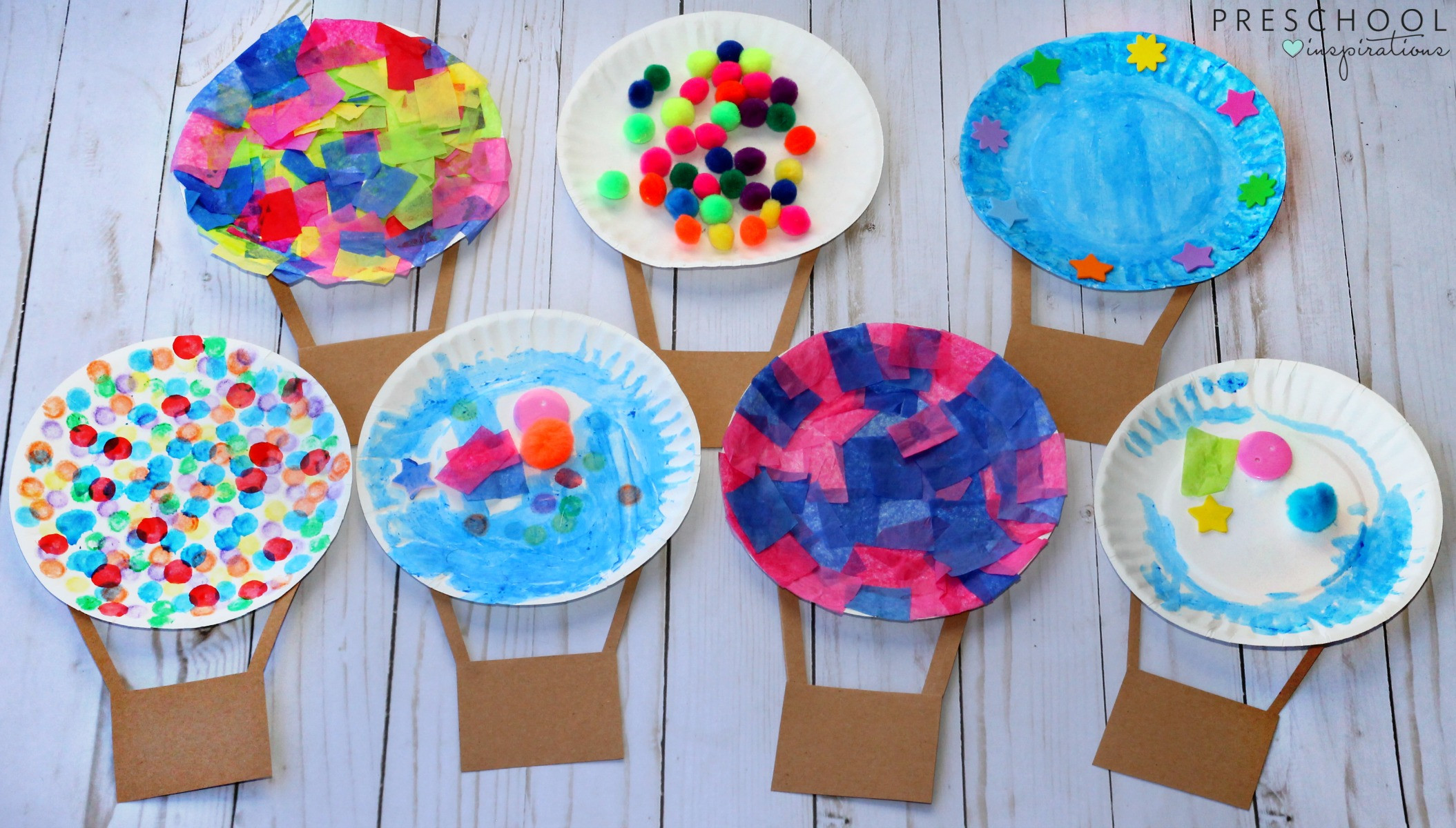 Arts And Crafts For Preschool  Hot Air Balloon Art Activity Preschool Inspirations