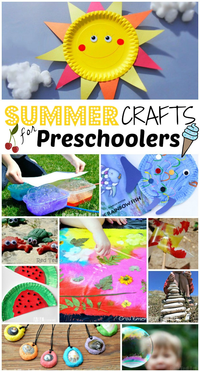 Arts And Crafts For Preschool  Summer Crafts for Preschoolers Red Ted Art s Blog
