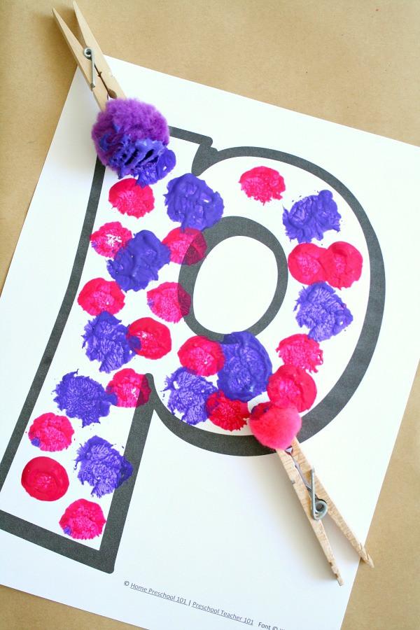 Arts And Crafts For Preschool  Using Process Art Alphabet Crafts in Preschool Fantastic