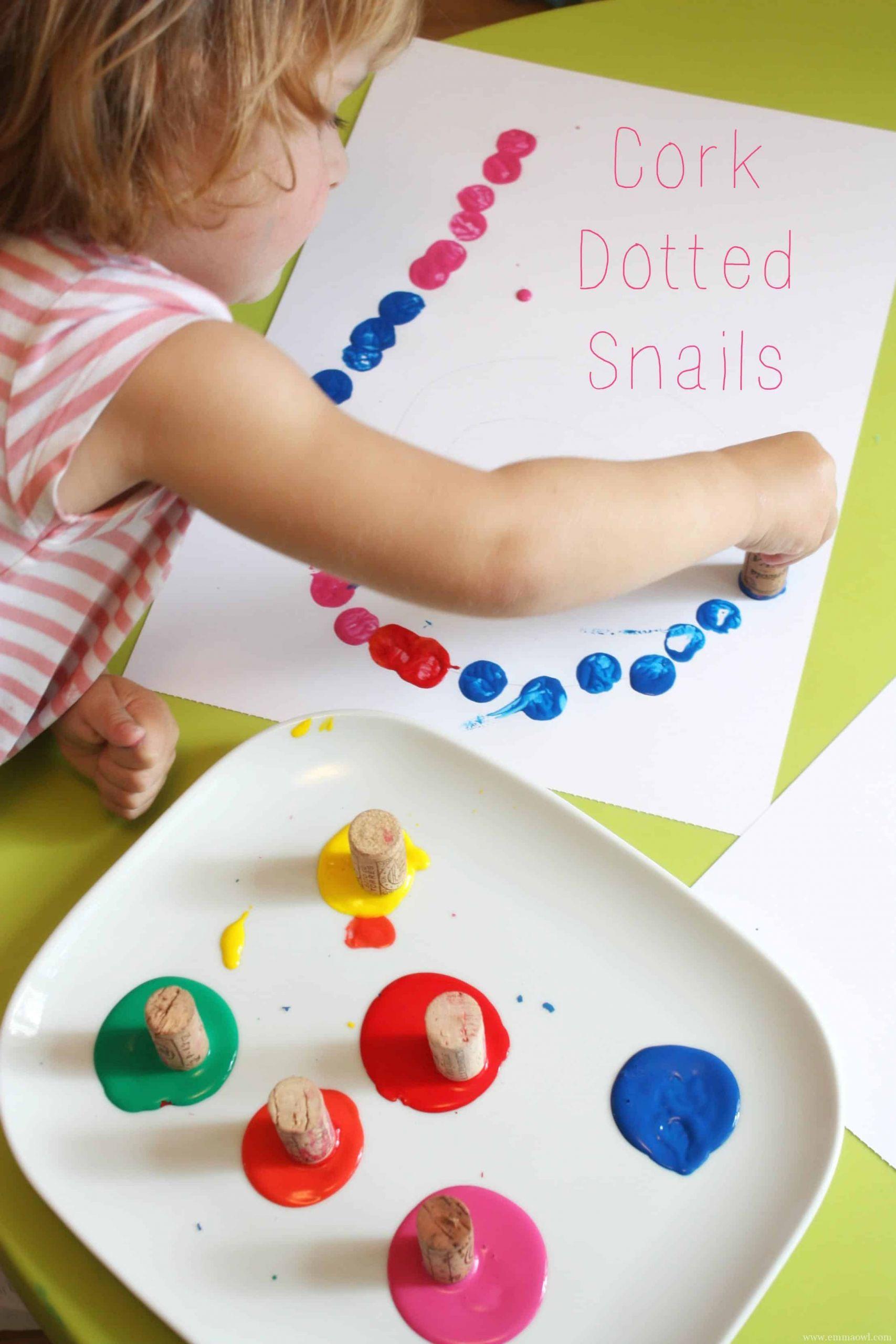 Arts And Crafts For Preschool  Cork Dotted Snail PELITABANGSA CA