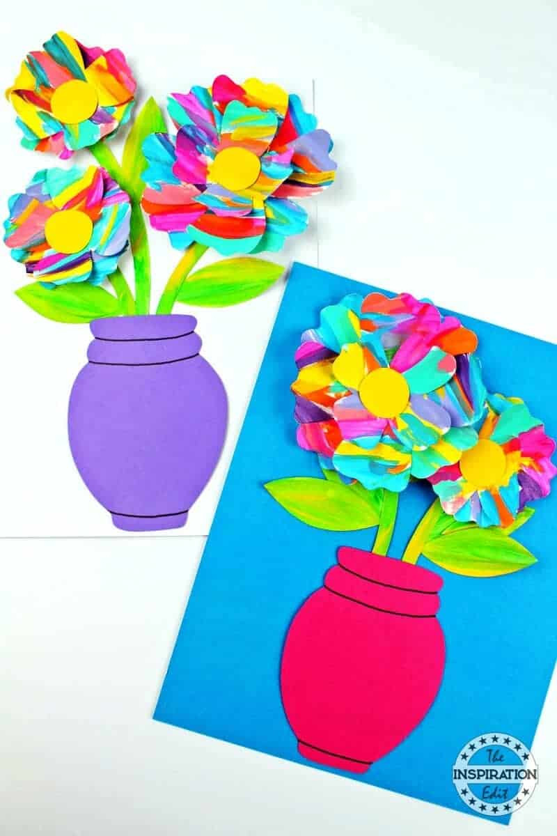 Arts And Crafts For Preschool  Painted Flower Art And Craft For Preschool · The
