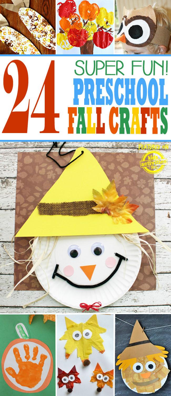 Arts And Crafts For Preschool  24 Super Fun Preschool Fall Crafts
