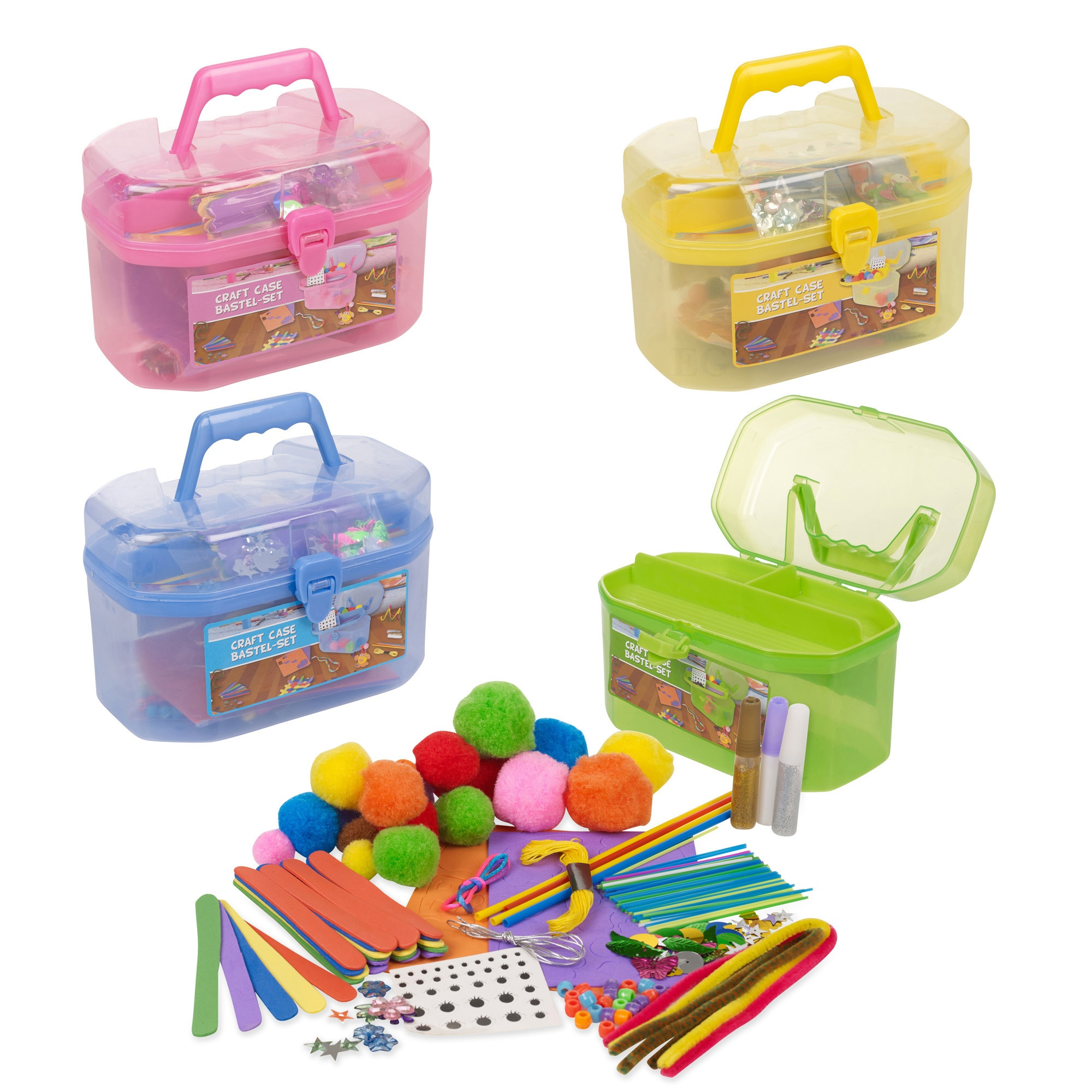 Arts And Crafts Sets For Kids  127 Piece Children s Arts & Craft Set Case Carry Handle