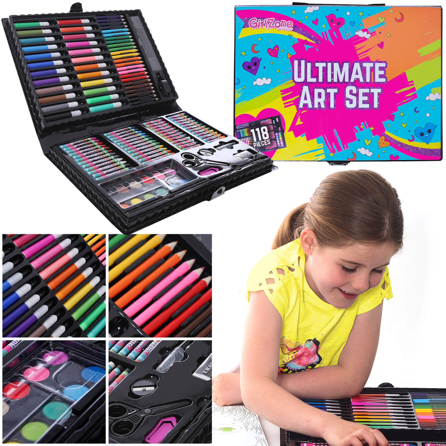 Arts And Crafts Sets For Kids  Ultimate Girls Art Set GirlZone UK