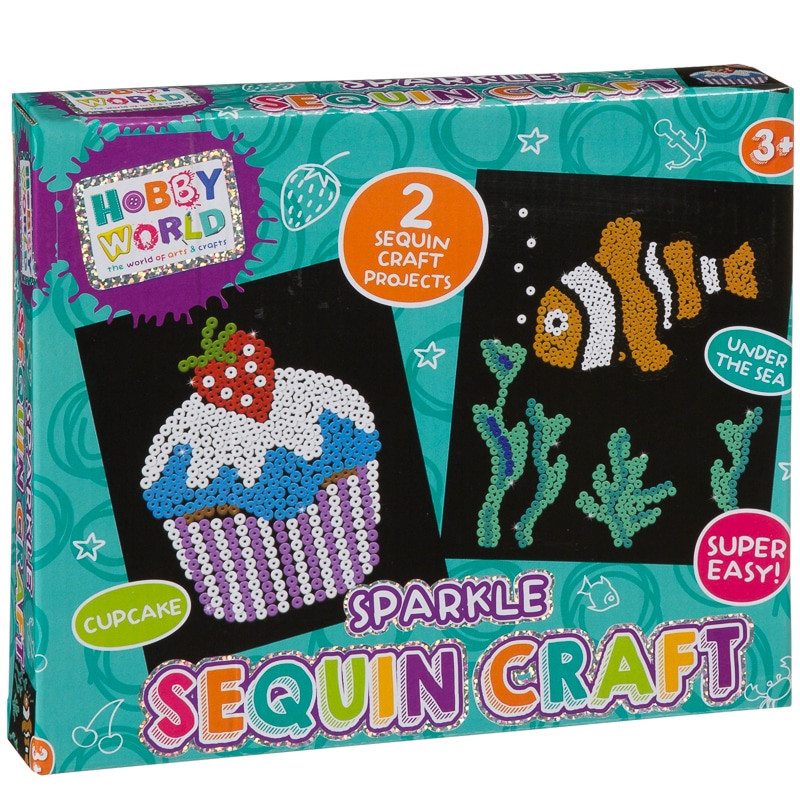 Arts And Crafts Sets For Kids  Hobby World Sparkle Sequin Craft Set