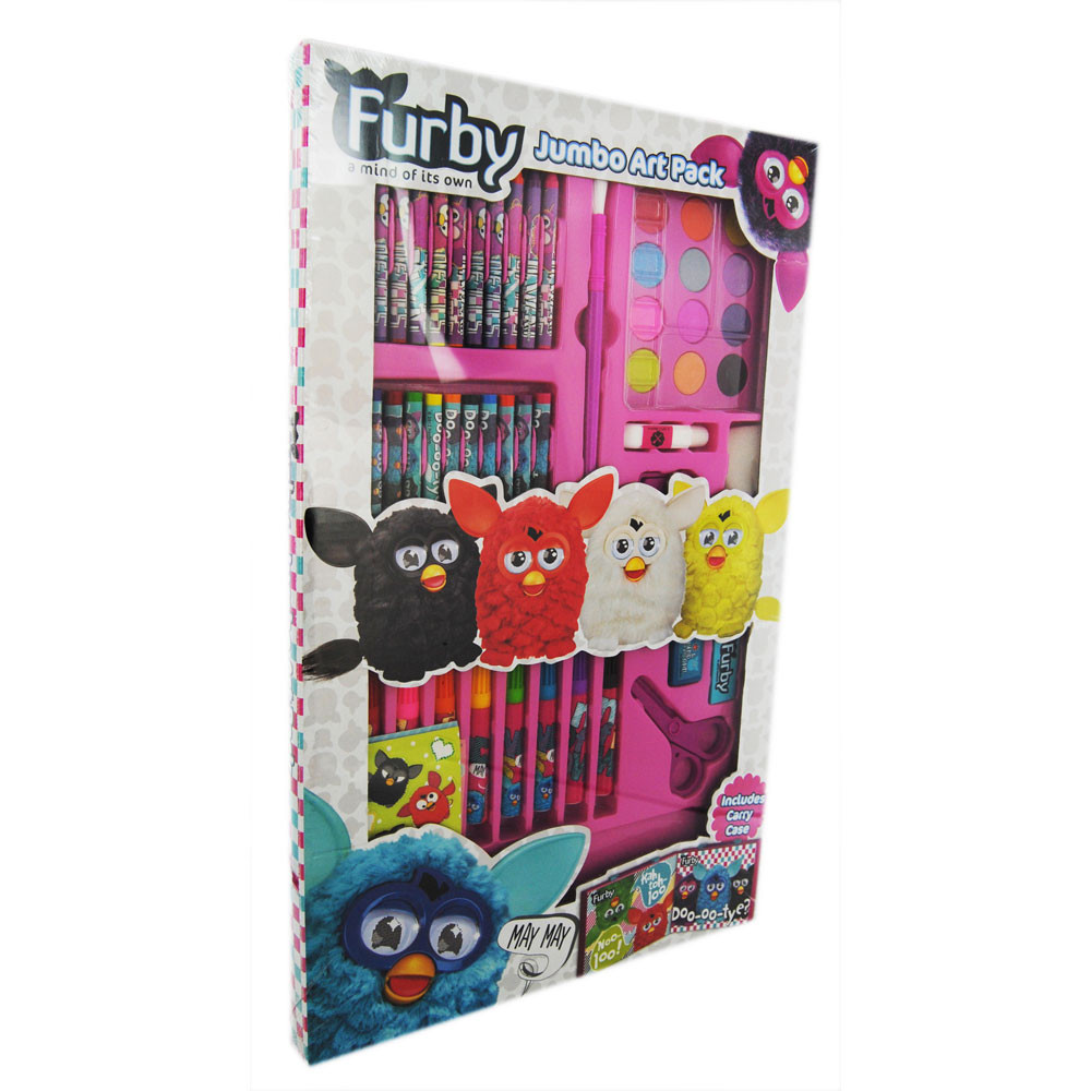 Arts And Crafts Sets For Kids  Furby Jumbo Art Set 60 Pieces