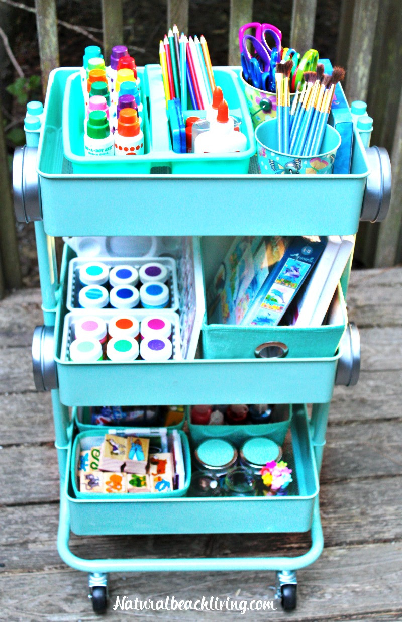 Arts And Crafts Sets For Kids  How to Set Up a Kids Arts Crafts Cart Natural Beach Living