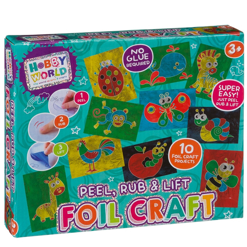 Arts And Crafts Sets For Kids  Hobby World Peel Rub & Lift Foil Craft Set