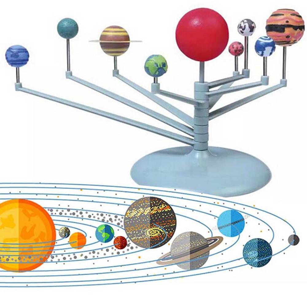 Astronomy Gifts For Kids  18 6 21cm Solar System Model Kit Nine Planets Planetarium