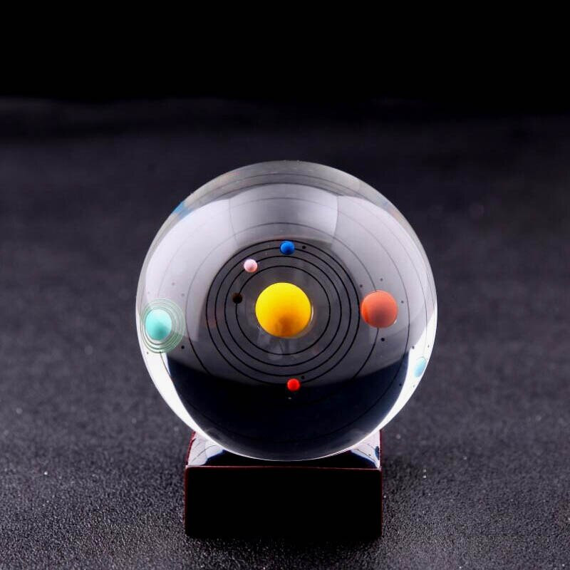 Astronomy Gifts For Kids  Aliexpress Buy 8cm Solar System Crystal Ball