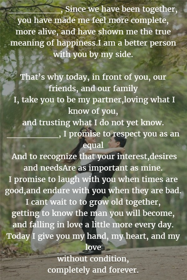 Awesome Wedding Vows  22 Examples About How to Write Personalized Wedding Vows