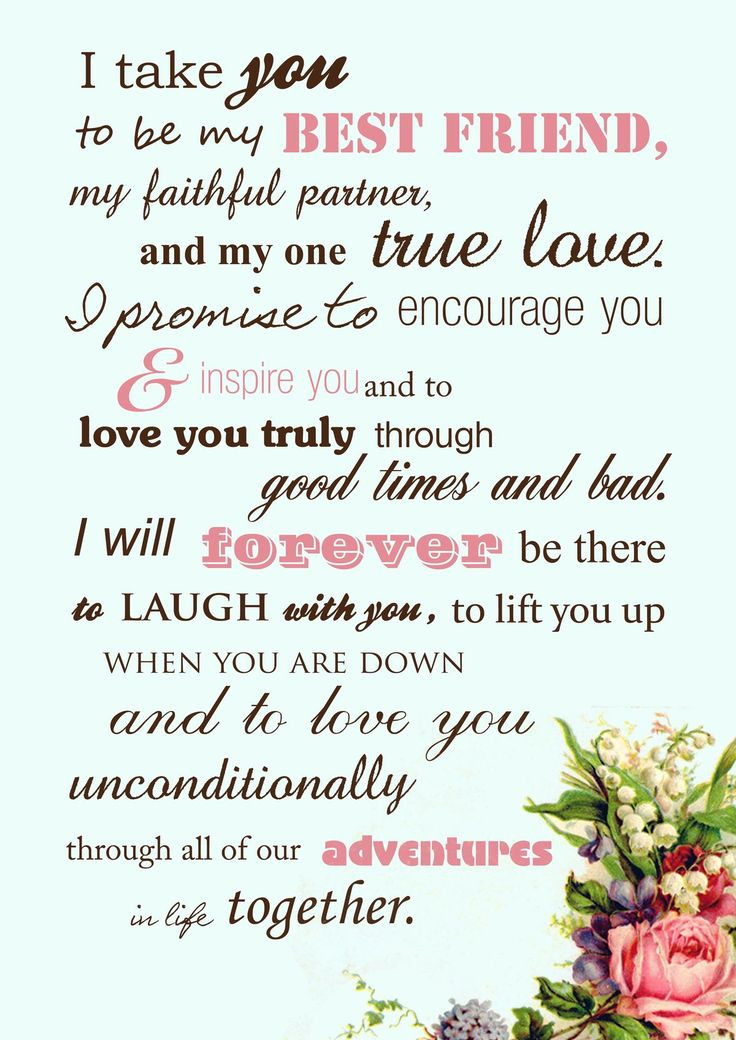 Awesome Wedding Vows  Wedding Quotes awesome traditional wedding vows best