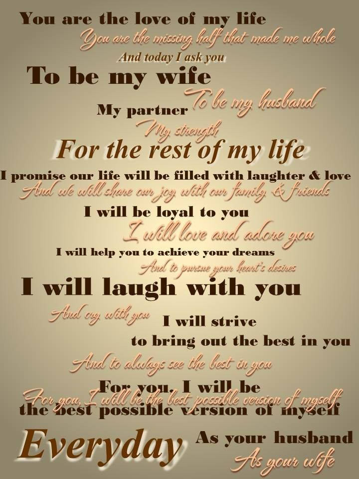 Awesome Wedding Vows  Romantic Wedding Vows For Him