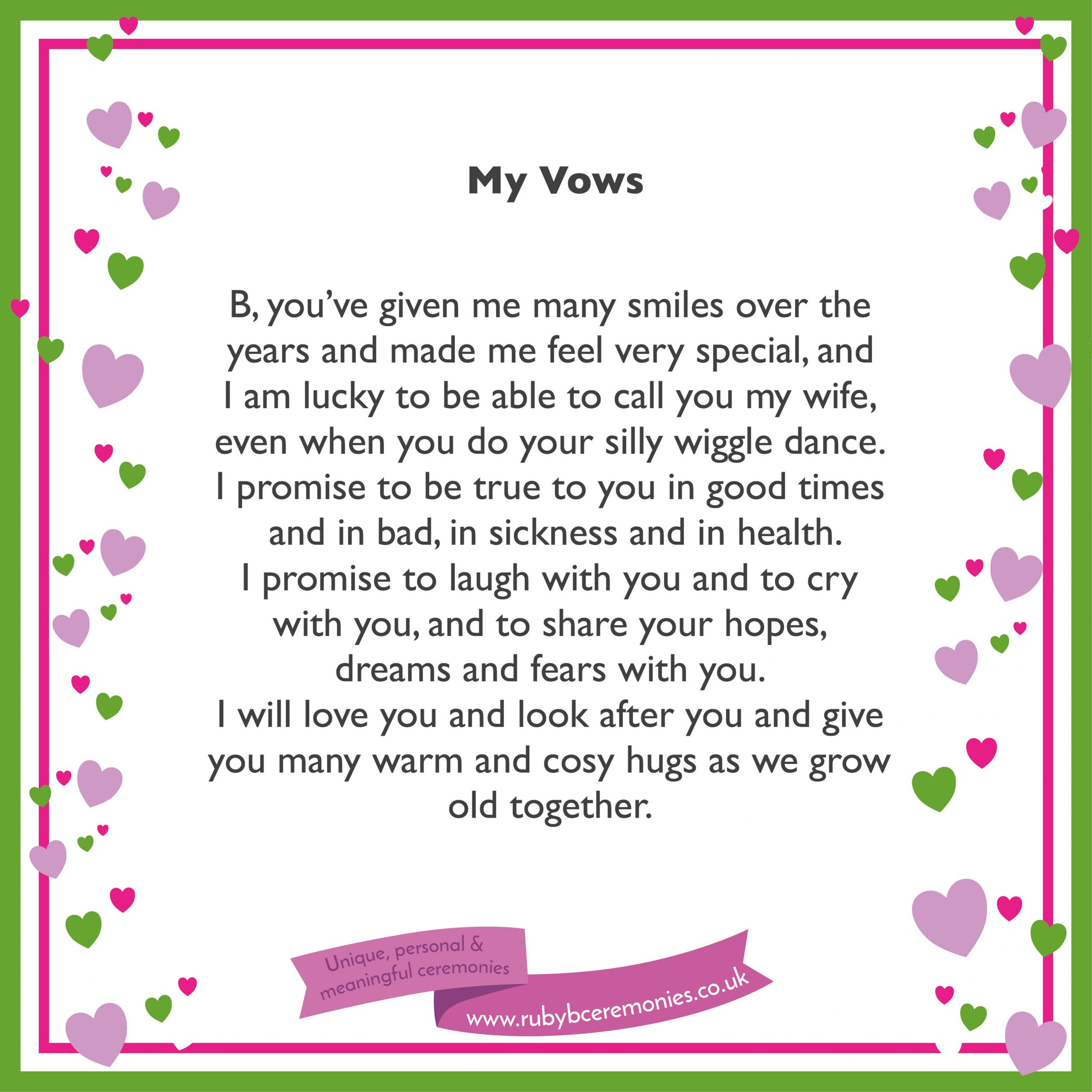 Awesome Wedding Vows  A simple way to write your wedding vows Ruby B