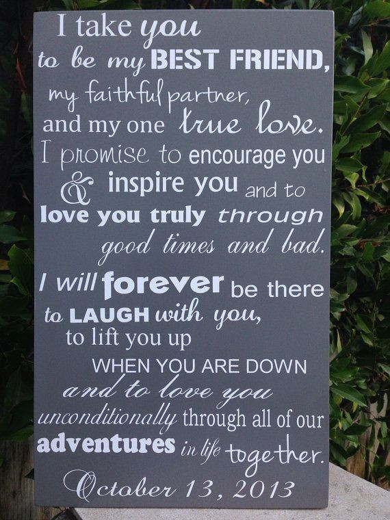 Awesome Wedding Vows  Romantic Wedding Vows Examples For Her and For Him