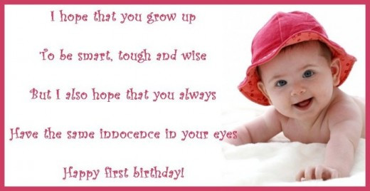 Baby 1St Bday Quotes  1st birthday poems
