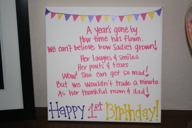 Baby 1St Bday Quotes  Quotes For Baby Girl 1st Birthday QuotesGram