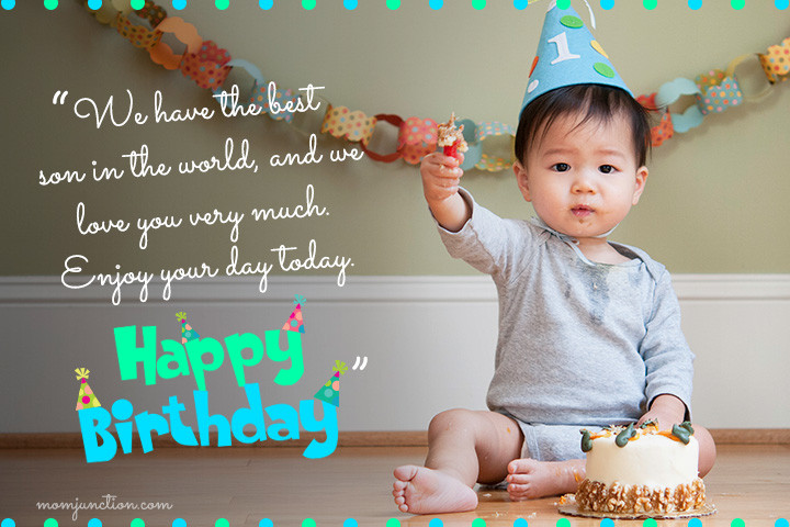 Baby 1St Bday Quotes  106 Wonderful 1st Birthday Wishes And Messages For Babies