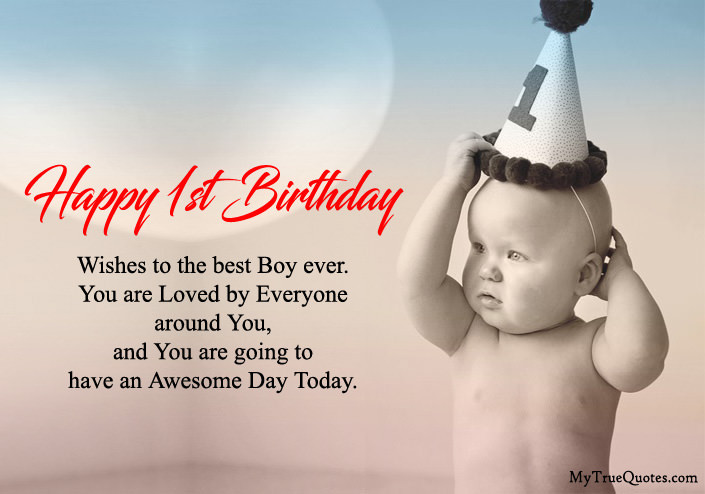 Baby 1St Bday Quotes  Happy 1st Birthday Quotes For Baby Girl And baby Boy