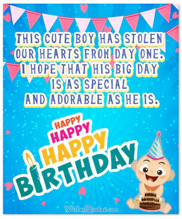 Baby 1St Bday Quotes  Wonderful Birthday Wishes for a Baby Boy By WishesQuotes
