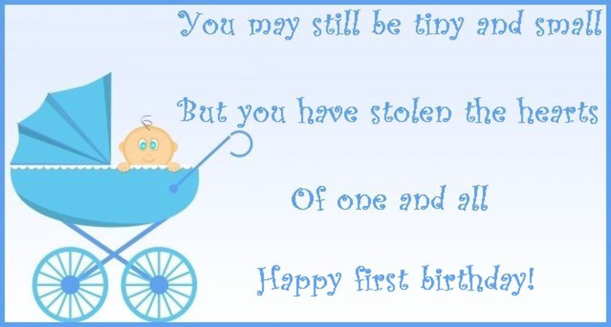 Baby 1St Bday Quotes  50 First Birthday Wishes Poems and Messages