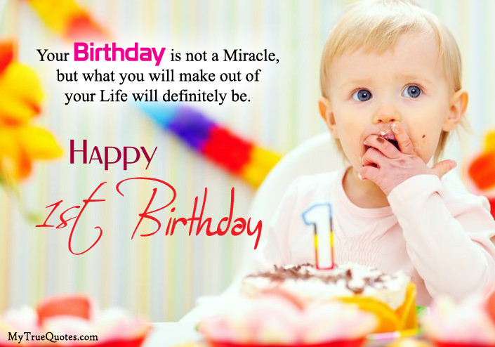 Baby 1St Bday Quotes  Happy 1st Birthday Quotes For New Born Baby Girl And baby Boy