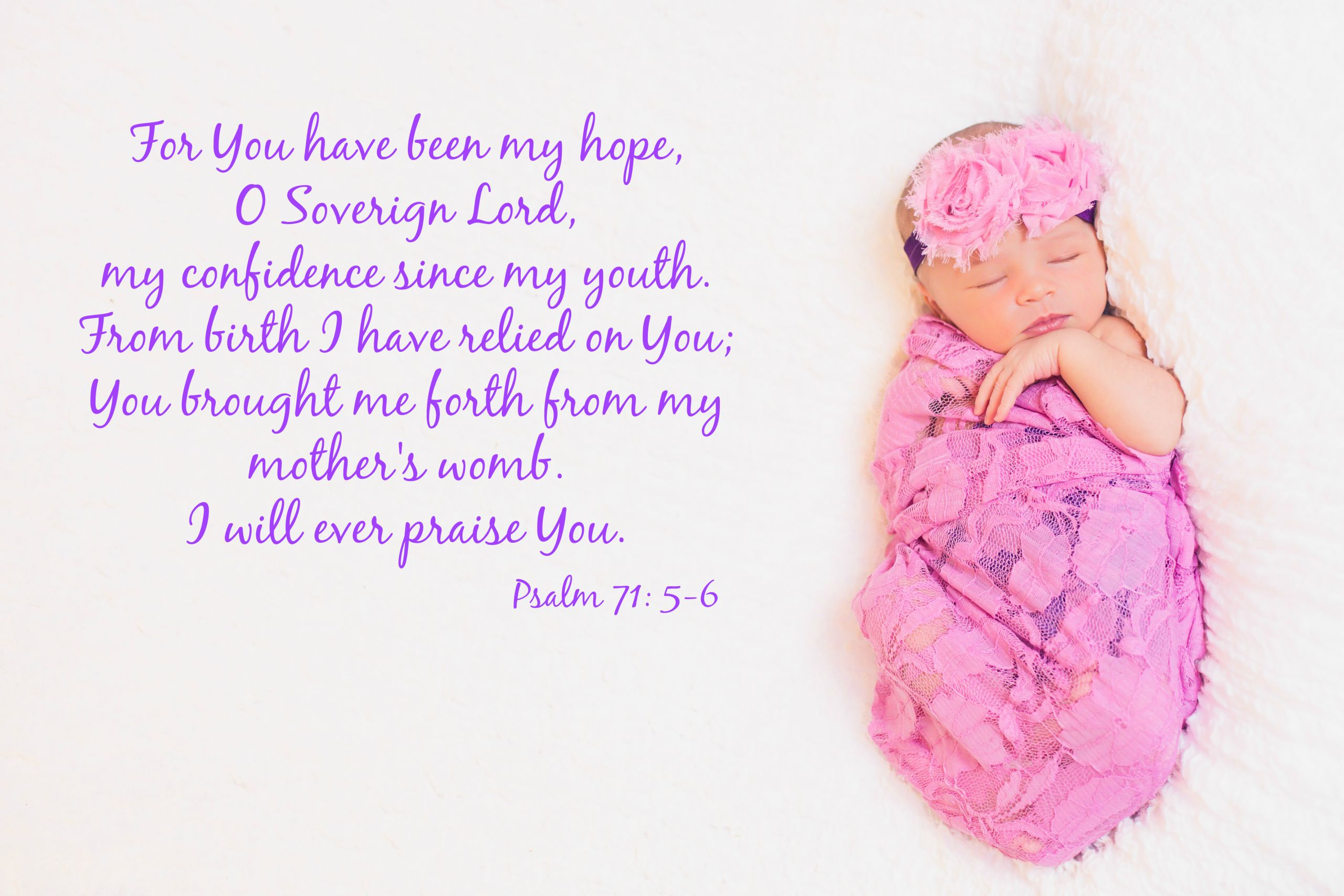 Baby Biblical Quotes  Baby Hope has arrived – Kimberly Saari graphy