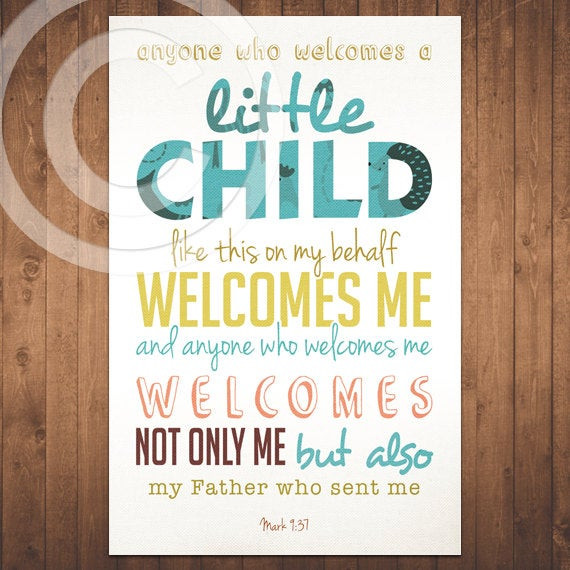 Baby Biblical Quotes  Items similar to Mark Bible Verse Scripture Baby