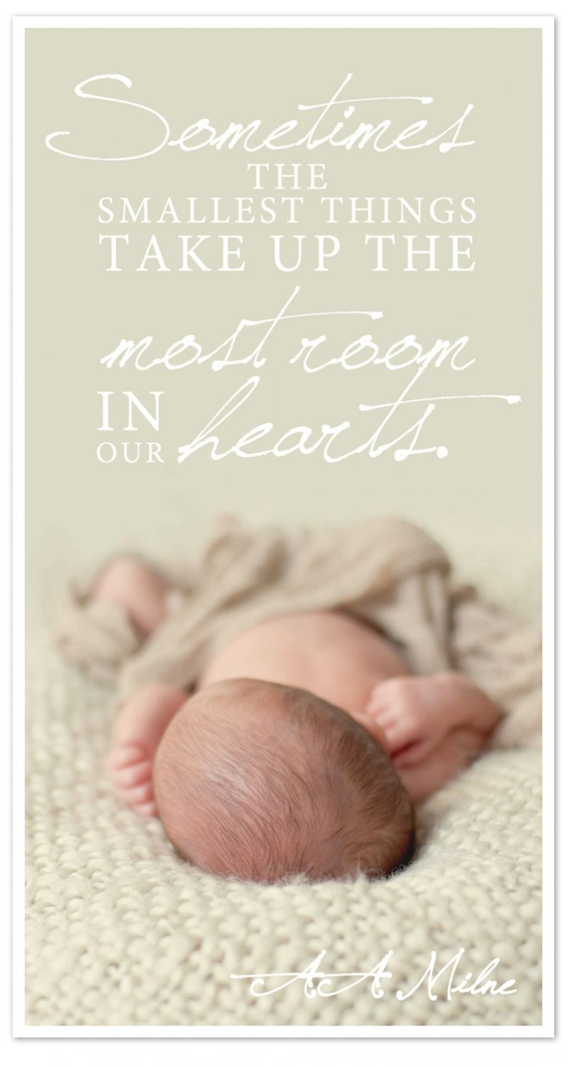 Baby Born Quote  The Smallest Things…