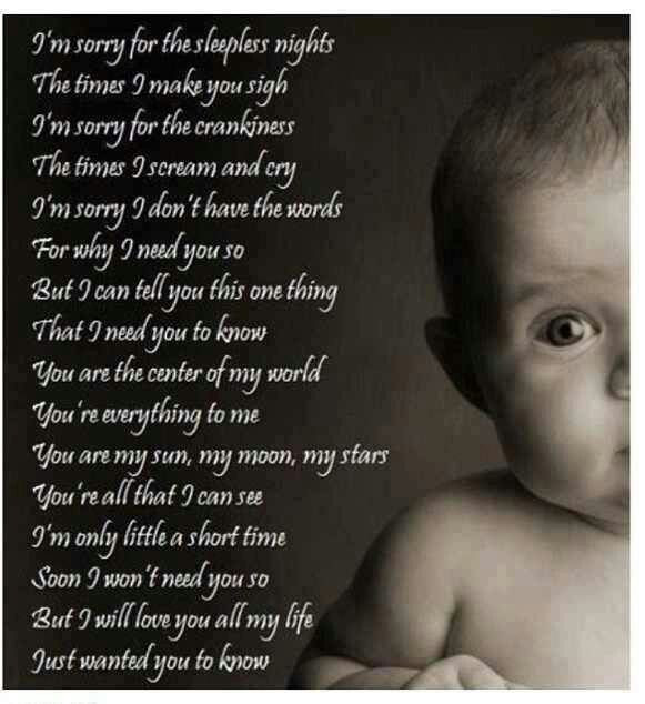 Baby Poetry Quotes  17 Best images about WORDS BABY POEMS on Pinterest