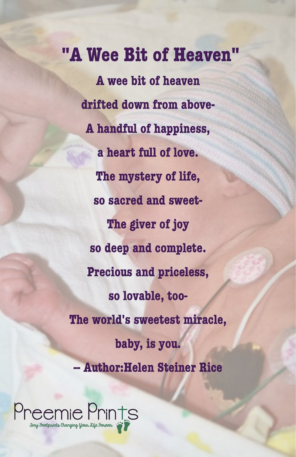 Baby Poetry Quotes  Preemie Prints Information Blog Poems Prayers & Quotes