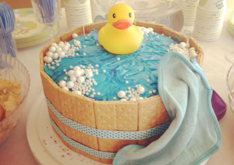 Baby Shower Cake Recipe  Rubber ducky baby shower cake Recipe by grace windu Cookpad