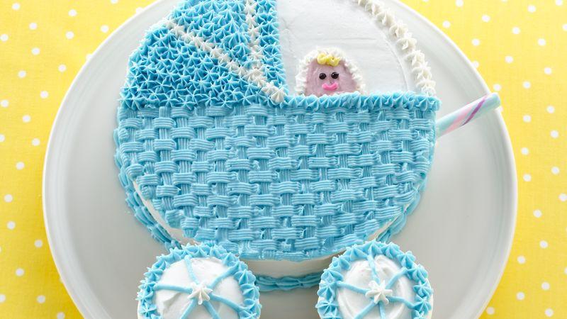 Baby Shower Cake Recipe  Baby Buggy Cake recipe from Betty Crocker