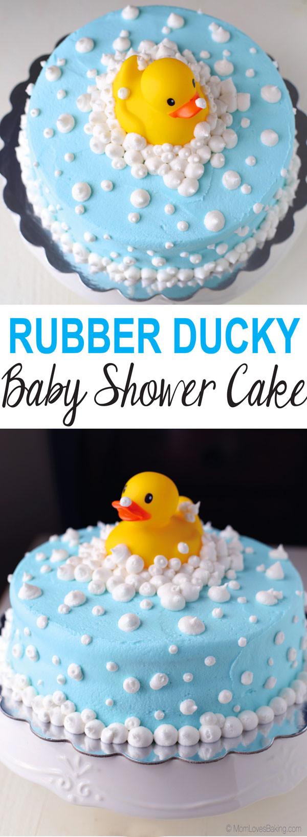 Baby Shower Cake Recipe  Rubber Ducky Baby Shower Cake Mom Loves Baking
