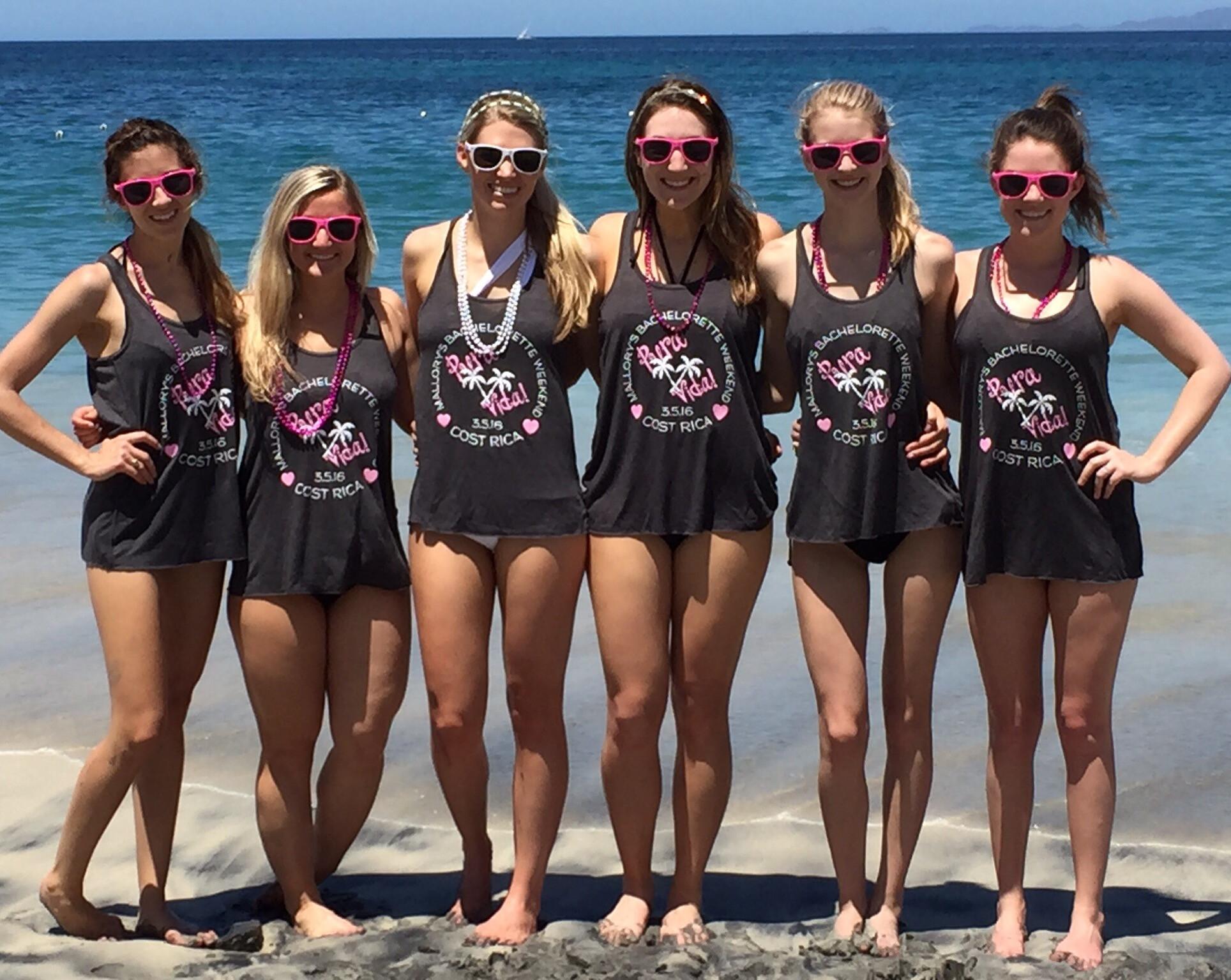 Bachelorette Party Beach Ideas  Custom T Shirts for Bachelorette Beach Bash Shirt Design