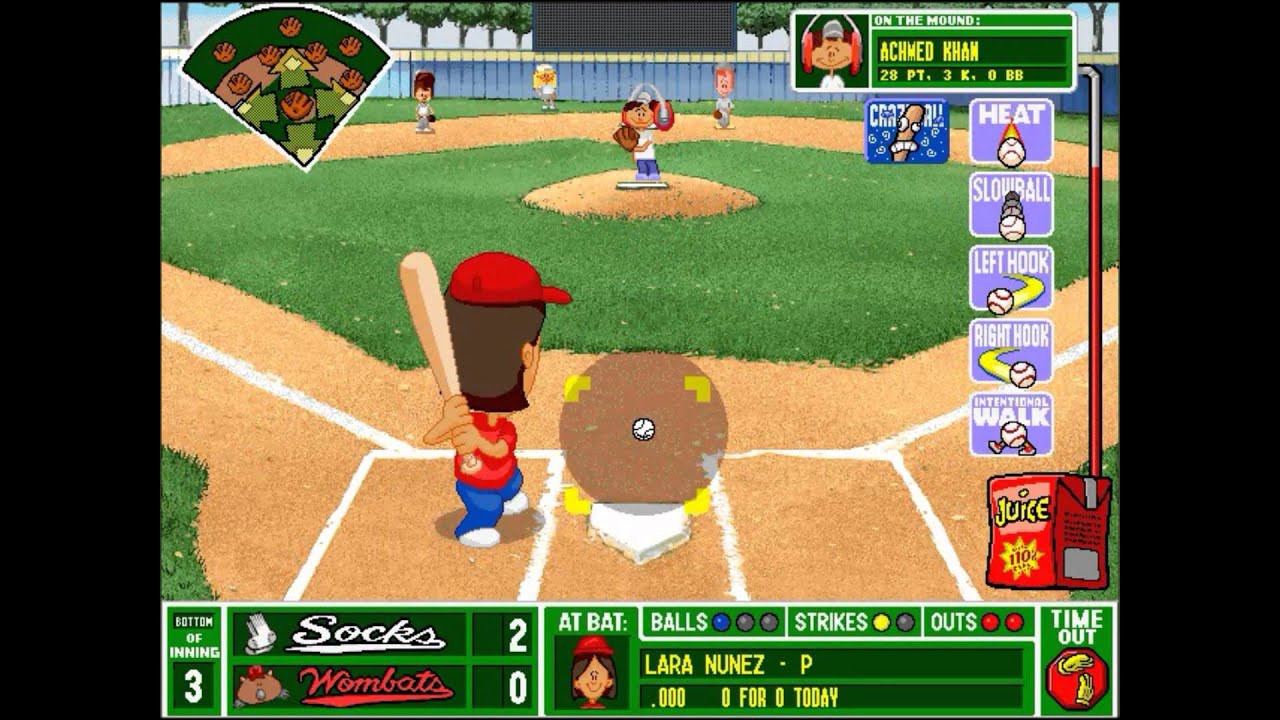 Backyard Baseball Computer Game  Backyard Baseball League PC Tournament Game 2 ON FIRE