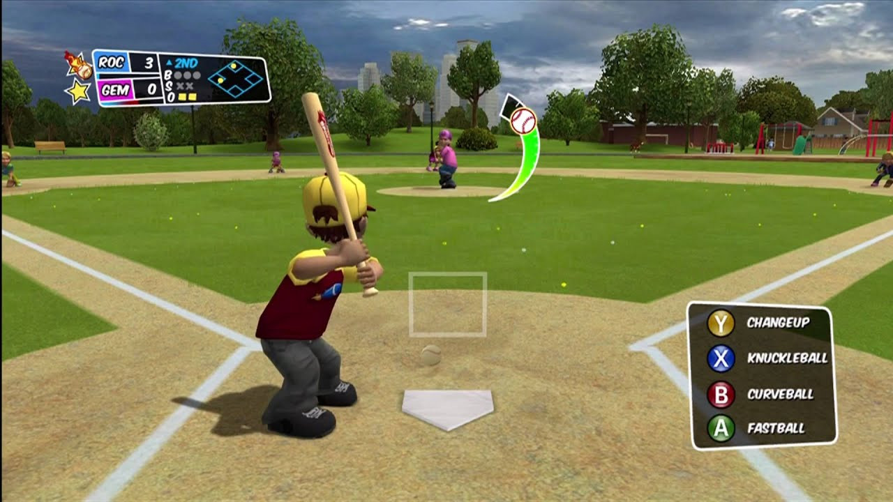"Backyard Baseball Computer Game  Backyard Baseball 2010 Xbox 360 ""Well OK then fielders"