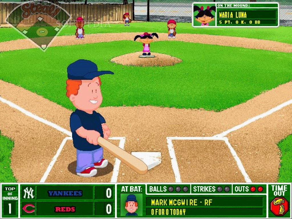 Backyard Baseball Computer Game  Backyard Baseball screenshots
