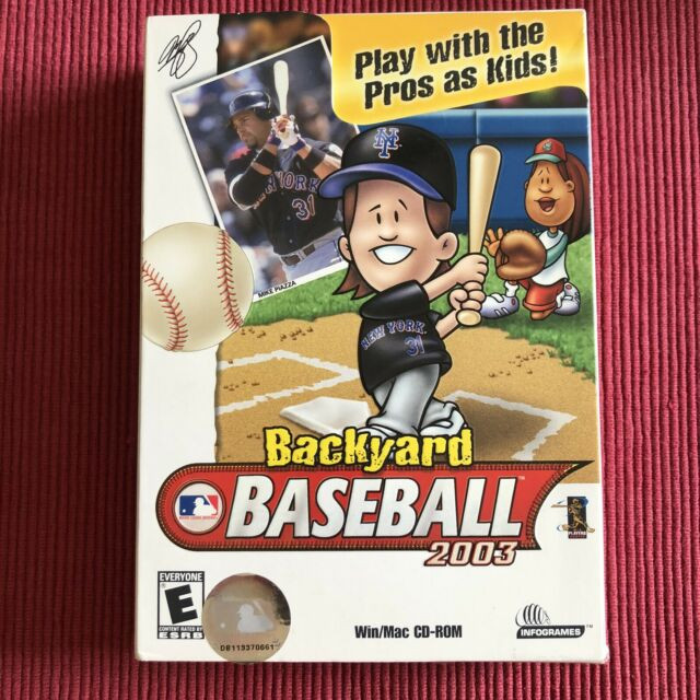Backyard Baseball Computer Game  Backyard Baseball 2003 puter Game