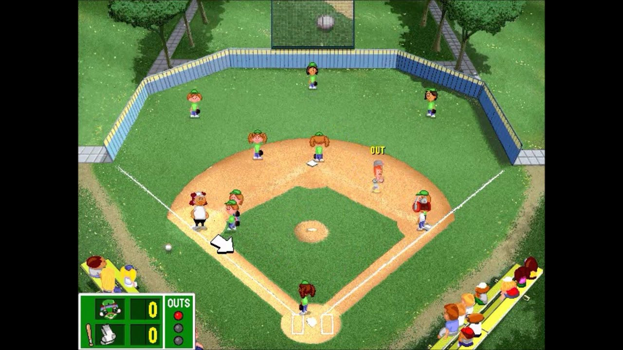 Backyard Baseball Computer Game  Backyard Baseball League PC Tournament Game 1 Part 1