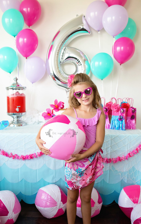 Barbie Beach Party Ideas  Malibu Barbie Pool Party Under $50 Five Marigolds