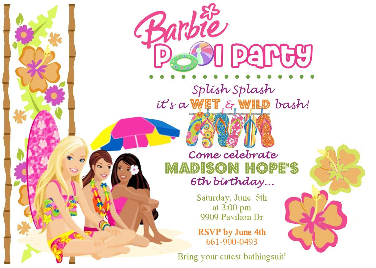 Barbie Beach Party Ideas  xowiicard