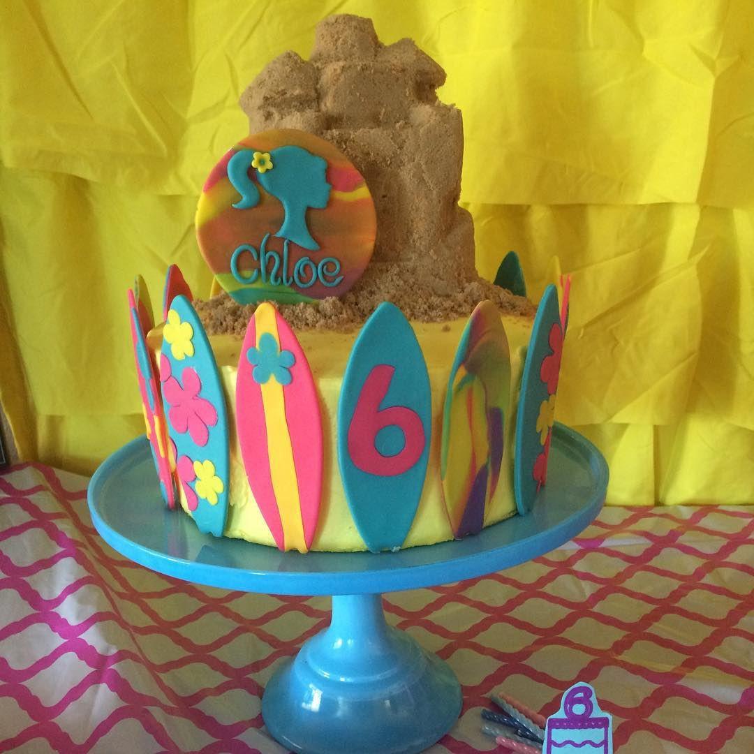Barbie Beach Party Ideas  Malibu Barbie Cake