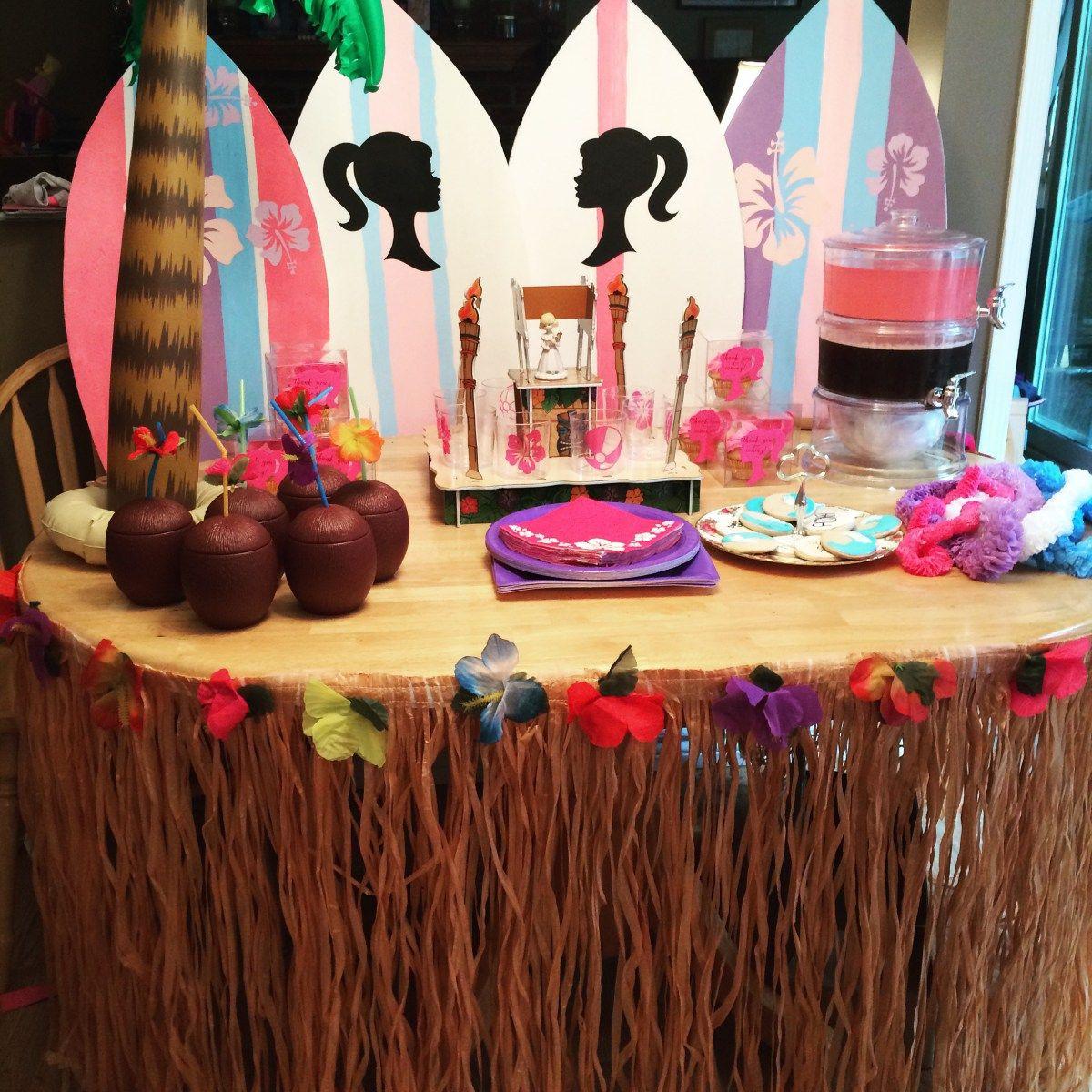 Barbie Beach Party Ideas  barbie surf party